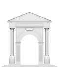 De boog van de architectuur met kolom Royalty-vrije Stock Afbeeldingen