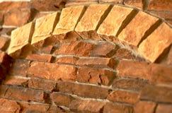 De boog van de baksteen, hoekige mening. Stock Fotografie