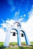 De boog van de klok met blauwe hemel Stock Fotografie