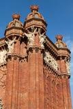De Boog van de triomf (Arc DE Triomf), Barcelona, Spanje Royalty-vrije Stock Fotografie