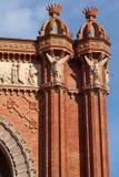 De Boog van de triomf (Arc DE Triomf), Barcelona, Spanje Stock Foto