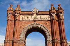De Boog van de triomf (Arc DE Triomf), Barcelona, Spanje Royalty-vrije Stock Foto's