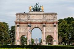 De Boog van de triomf van de Carrousel Parijs Frankrijk Stock Foto's