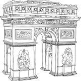 De Boog van de Triomf van Parijs Stock Afbeelding