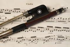 De boog van de viool Stock Foto's