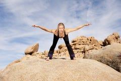 De Boog van de yoga Royalty-vrije Stock Afbeeldingen