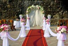 De boog van het huwelijk stock foto's