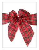 De Boog van het Pakket van Kerstmis van de plaid Stock Foto