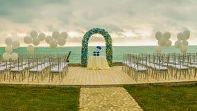 De Boog van het strandhuwelijk royalty-vrije stock afbeeldingen