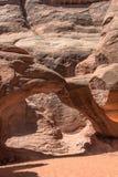 De Boog van het zandduin in Bogen Nationaal Park, Utah Royalty-vrije Stock Fotografie