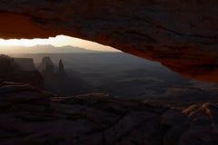De Boog van Mesa bij zonsopgang Stock Foto's