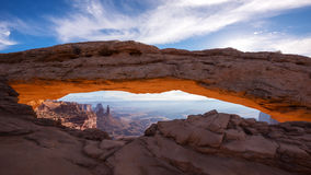 De Boog van Mesa bij Zonsopgang Stock Foto
