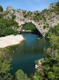 De Boog van Pont d - de Ardèche, Frankrijk Royalty-vrije Stock Foto