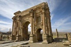 De boog van Trajan Stock Foto's