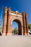 De boog van Triomf - Barcelona stock foto