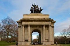 De boog van Wellington in park Hyde Royalty-vrije Stock Fotografie