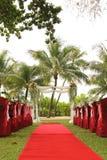De boogdecoratie van het tuinhuwelijk Royalty-vrije Stock Foto's