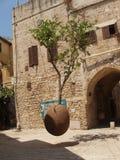 De boom in de lucht, Oude Jaffa Stock Foto's
