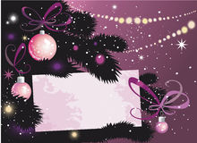 De Boom en de kaart van de kerstavond Royalty-vrije Stock Foto