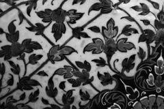 De Boom en van de Bloemenkunst schilderijen isoleerden zwart-wit langs de galerijen royalty-vrije stock foto's