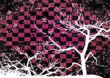 De boom grungy abstract ontwerp van de herfst royalty-vrije illustratie