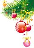 Ñ  hristmasboom, Ñ  hristmas, nieuw jaar, achtergrond Stock Afbeeldingen