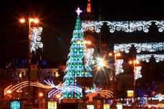 Kerstmis en 2013 van Nieuwe Jaren in Kiev, de hoofdstad van de Oekraïne Stock Afbeeldingen