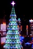 Kerstmis en 2013 van Nieuwe Jaren in Kiev, de hoofdstad van de Oekraïne Stock Fotografie