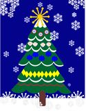 De boom van Christas in openlucht Stock Afbeelding