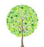 De boom van cirkels Stock Afbeelding