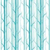 De boom van de berk Naadloos patroon Vector fabricDesign element voor behang, websiteachtergrond, de uitnodiging van de babydouch royalty-vrije stock fotografie