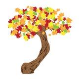 De boom van de daling stock illustratie