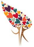 De boom van de diversiteit van liefde Royalty-vrije Stock Afbeeldingen