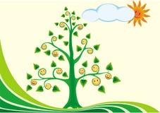 De boom van de glimlach Stock Fotografie