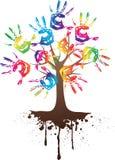 De boom van de hand met wortel Stock Foto