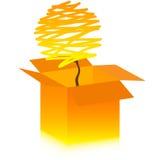 De boom van de herfst in doos Stock Afbeelding
