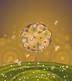 De boom van de herfst, vector Stock Afbeelding