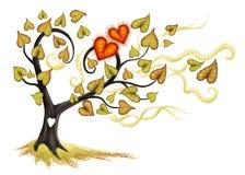 De boom van de herfst Vector beschikbare illustratie Royalty-vrije Stock Afbeelding
