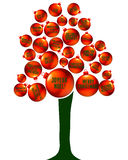 De boom van de Kerstmistaal Stock Foto