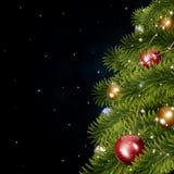 De Boom van de Kerstmisvakantie Stock Foto's