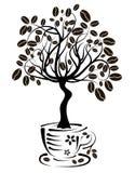 De boom van de koffie in een kop,   Royalty-vrije Stock Fotografie
