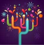 De boom van de kunst en van de verwezenlijking, conceptenillustratie Stock Foto