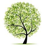 De boom van de kunst mooi voor uw ontwerp Royalty-vrije Stock Afbeelding