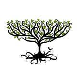 De boom van de kunst voor uw ontwerp Stock Foto's