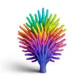 De boom van de regenboog Stock Fotografie
