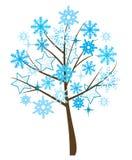 De boom van de sneeuwvlok Stock Illustratie