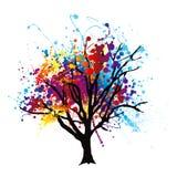 De boom van de verf splat Stock Afbeelding