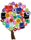 De boom van de verkoop Stock Foto's
