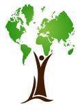 De boom van de wereld Stock Fotografie