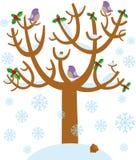 De boom van de winter stock illustratie